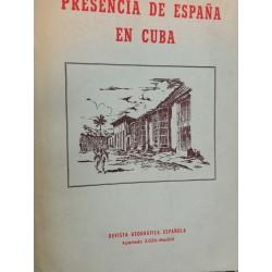 PRESENCIA DE ESPAÑA EN CUBA