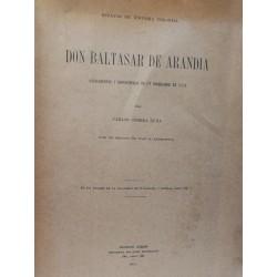 DON BALTASAR DE ARANDIA Antedentes y Desventuras de un Corregidor en 1778