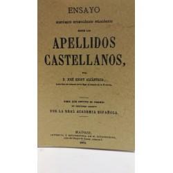 APELLIDOS CASTELLANOS Ensayo Histórico,Etimológico y Filológico