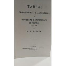 TABLAS CRONOLÓGICA Y ANALBÉTICA DE IMPRENTAS E IMPRESORES DE FILIPINAS (1593-1898)