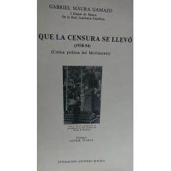 LO QUE LA CENSURA SE LLEVÓ (1938-1954)