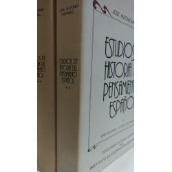 ESTUDIOS DE HISTORIA DEL PENSAMIENTO ESPAÑOL Tomos 2 y ·