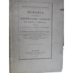 MEMORIA ACERCA DE ALGUNAS INSCRIPCIONES ARÁBIGAS DE ESPAÑA Y PORTUGAL