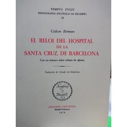 EL RELOJ DEL HOSPITAL DE SANTA CRUZ DE BARCELONA