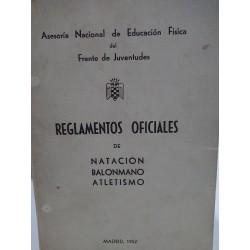 REGLAMENTOS OFICIALES DE NATACIÓN BALONMANO ATLETISMO