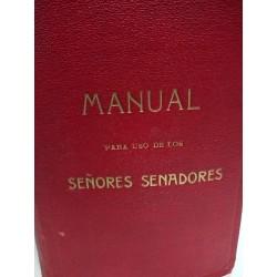 MANUAL PARA USO DE LOS SEÑORES SENADORES