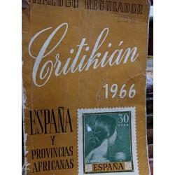 CATÁLOGO DE SELLOS DE ESPAÑA  Y PROVINCIAS AFRICANAS  CRITIKIAN1966