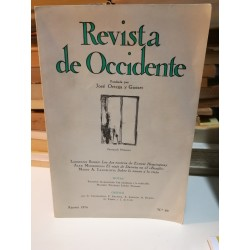 REVISTA DE OCCIDENTE Fundada por Ortega y Gasset