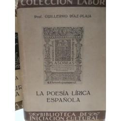 LA POESÍA LÍRICA ESPAÑOLA Colección LABOR Biblioteca de Iniciación Cultural