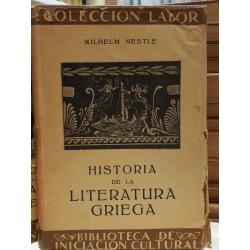 HISTORIA DE LA LITERATURA GRIEGA Colección LABOR Biblioteca de Iniciación Cultural