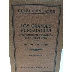 LOS GRANDES PENSADORES Colección LABOR Biblioteca de Iniciación Cultural