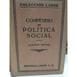 COMPENDIO DE POLÍTICA SOCIAL Colección LABOR Biblioteca de Iniciación Cultural