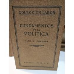 FUNDAMENTOS DE LA POLÍTICA Colección LABOR Biblioteca de Iniciación Cultural