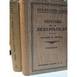 HISTORIA DE LA IDEAS POLÍTICAS 2 Tomos  Colección LABOR Biblioteca de Iniciación Cultural