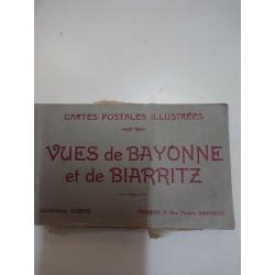 CARTES POSTALES ILLUSTREÉS Vues de BAYONNE et BIARRITZ