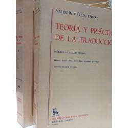 TEORÍA Y PRÁCTICA DE LA TRADUCCIÓN 2 Tomos Biblioteca Románica Hispánica GREDOS Dirigida por Dámaso Alonso