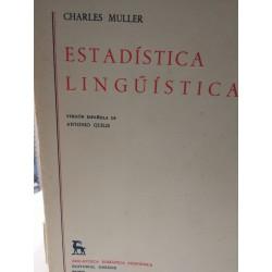 ESTADÍSTICA LINGUÍSTICA Biblioteca Románica Hispánica GREDOS Dirigida por Dámaso Alonso