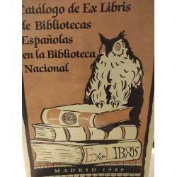 CATÁLOGO DE EX-LIBRIS DE BIBLIOTECAS  ESPAÑOLAS EN LA BIBLIOTECA NACIONAL
