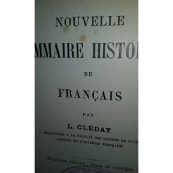 NOUVELLE GRAMMAIRE HISTORIQUE DU FRANCAISE